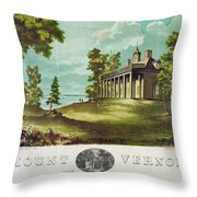 Mount Vernon, 1859 Throw Pillow