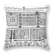 Mount Vernon: Garden Throw Pillow