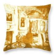 Mount Vernon In Golden Light Throw Pillow
