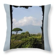 Mount Vesuvius Throw Pillow