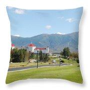 Mount Washington Hotel In New Hampshires White Mountains Throw Pillow