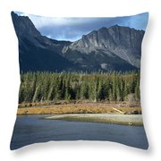 Mount Yamnuska Throw Pillow