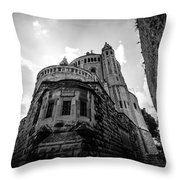 Mount Zion Abbey Throw Pillow