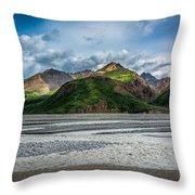 Mountain Across The River Throw Pillow