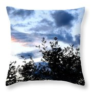 Mountain Ash Silhouette Throw Pillow