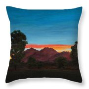 Mountain At Night Throw Pillow