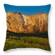 Mountain Autumn Sunrise Throw Pillow