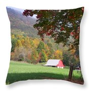 Mountain Barn Throw Pillow