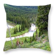 Mountain Bridge Throw Pillow