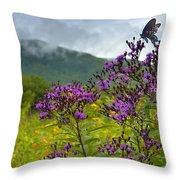 Mountain Butterfly  Throw Pillow