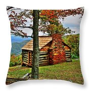 Mountain Cabin 1 Throw Pillow