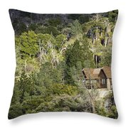 Mountain Cabin - Sierra Nevadas, California Usa Throw Pillow
