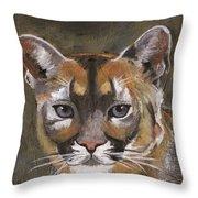 Mountain Cat Throw Pillow