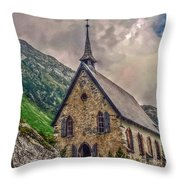 Mountain Chapel Throw Pillow