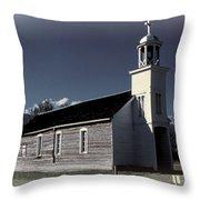 Mountain Church Throw Pillow