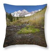 Mountain Co Maroon Bells 20 Throw Pillow
