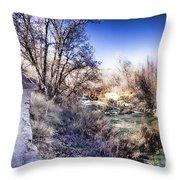Mountain Creek Path-sundance Utah Throw Pillow