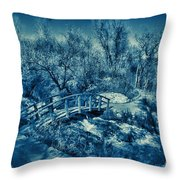 Mountain Creek Path-sundance Utah V2 Throw Pillow