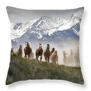 Mountain Dust Storm Throw Pillow