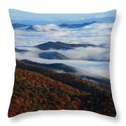 Mountain Fog - Blue Ridge Parkway Throw Pillow