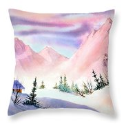 Mountain Glow Throw Pillow