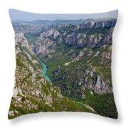 Mountain Gorge Throw Pillow