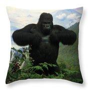 Mountain Gorilla Throw Pillow