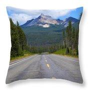 Mountain Highway Throw Pillow