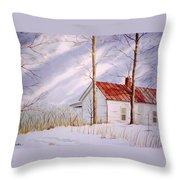 Mountain Home Throw Pillow