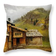Mountain House  Throw Pillow by Albert Bierstadt