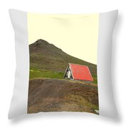 We Will Live Together In A Humble Mountain Hut  Throw Pillow