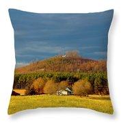 Mountain In North Carolina Throw Pillow