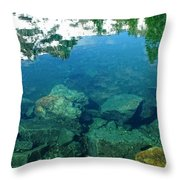 Mountain Lagoon Throw Pillow