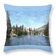 Mountain Lake Retreat Throw Pillow