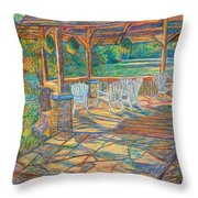 Mountain Lake Shadows Throw Pillow