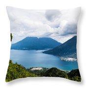 Mountain Lakes In Guatemala Throw Pillow