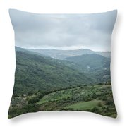 Mountain Landscape Of Italy Throw Pillow