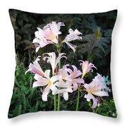 Mountain Lillies Throw Pillow