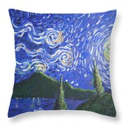 Mountain Loch Throw Pillow