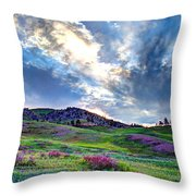 Mountain Meadow Of Flowers Throw Pillow