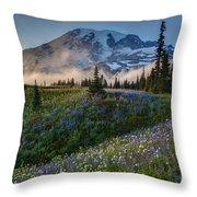 Mountain Meadow Serenity Throw Pillow