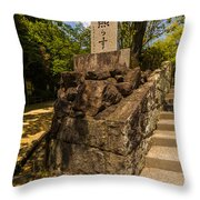 Mountain Monument Throw Pillow