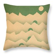 Mountain Moon Rising Throw Pillow