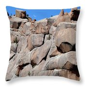 Mountain Of Boulders Throw Pillow