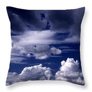 Mountain Of Clouds Throw Pillow