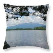 Mountain Of The People Of Maine Throw Pillow