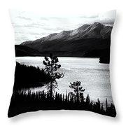 Mountain Outline Throw Pillow
