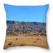 Mountain Over The Plains Throw Pillow