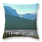 Mountain Peaks From Icefields Parkway-alberta Throw Pillow