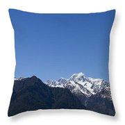 Mountain Profile Throw Pillow